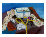 Sewing Still Life Giclee Print by Darlene Navor