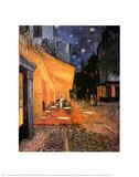 Kaffeserveringen på Place du Forum, Arles, ca 1888 Planscher av Vincent van Gogh