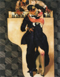 Dance on White Piano Poster by Juarez Machado