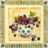 Blue Grapes Poster by Alie Kruse-Kolk