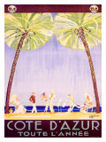 Cote d'Azur Giclée-Druck von Jean-Gabriel Domergue