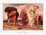 Charlot à la plage Affiches par Frederick Leighton