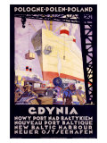Polish Shipping Port of Gdynia Giclee Print