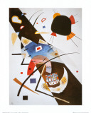 Deux taches noires Affiches par Wassily Kandinsky
