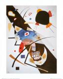 Dos manchas negras Lámina por Wassily Kandinsky