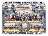 Haverly's United Mastodon Minstrels Giclee Print by Matt Morgan