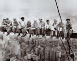 Frokost på en skyskraber, ca. 1932 Plakater af Charles C. Ebbets
