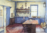Farmhouse Kitchen Print by Deborah Chabrian