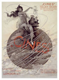Cines, Italien Society, 1915 Giclee Print