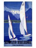 Segelschule Sailing Academy Giclee Print