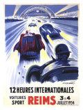 12 Heures International Reims, 1954 Giclée-Druck von Geo Ham