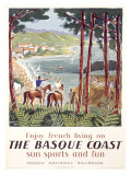 Basque Coast Giclee Print by Hervé Baille
