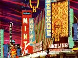 Fremont Street, Las Vegas, Nevada Posters by Mitchell Funk