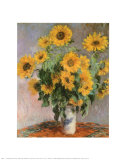 Sunflowers Poster von Claude Monet