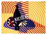 3 Nicolas Wine Promotions Lámina giclée por Adolphe Mouron Cassandre