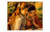 Muchachas leyendo Lámina giclée por Pierre-Auguste Renoir
