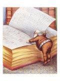 Santa Claus Book Giclee Print