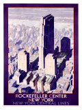 Rockefeller Center Railroad, c.1934 Giclée-Druck