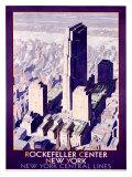 Rockefeller Center Railroad, c.1934 Giclée-Druck