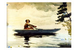 Boating in Adirondacks Giclee Print by Winslow Homer