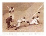 Jackie Robinson Stealing Home, May 18, 1952 Posters af Nat Fein
