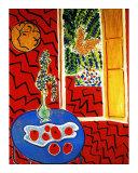 Red Interior Giclee-trykk av Henri Matisse