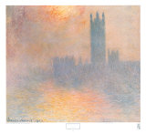 London Houses of Parliament Posters by Claude Monet