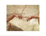 A Criação de Adão, c.1510 (detalhe) Pôsters por  Michelangelo Buonarroti