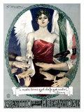 Achille Luciano Mauzan - Liberty Bond Prestito Della Liberazione Digitálně vytištěná reprodukce