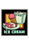 Ice Cream Giclee Print