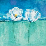 Fleurs d'Azur II Print by Isabelle Herbert