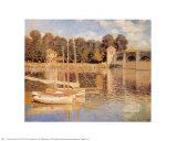 Die Brücke von Argenteuil Poster von Claude Monet