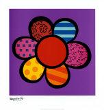 Puissance des fleurs III Art par Romero Britto