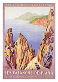 Calanche De Piana Posters by Roger Broders