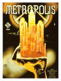 『メトロポリス』の1928ヴィンテージ映画ポスター ジクレープリント