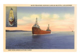 Freighters on Lake Superior, Minnesota Art Print
