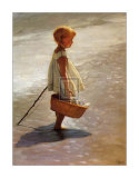 Young Girl on a Beach Prints by I. Davidi