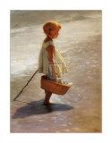 Young Girl on a Beach Affischer av I. Davidi