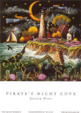 Pirates Night Cove Posters by Jessica Fries