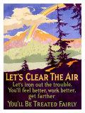 Let's Clear the Air Digitálně vytištěná reprodukce