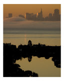 Alcatraz at Sunrise Photographic Print by Vic Harshberger