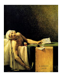 Death of Marat Gicleetryck av Jacques-Louis David