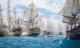 Battle Of Trafalgar Collectable Print by Steven Dews
