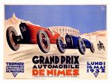 Grand Prix de Nîmes,1932 Reproduction procédé giclée
