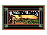 Mission Vineyard Giclee Print