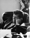 President John F. Kennedy in the Oval Office Photo