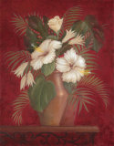 Tropical Hibiscus I Prints by Gloria Eriksen