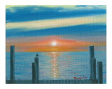 Sunrise from the Dock Giclee Print by Rhonda Watson