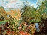 Claude Monet - Stiller Winkel im Garten von Montgeron - Tablo