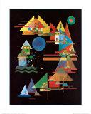 Points in the Elbow Poster von Wassily Kandinsky